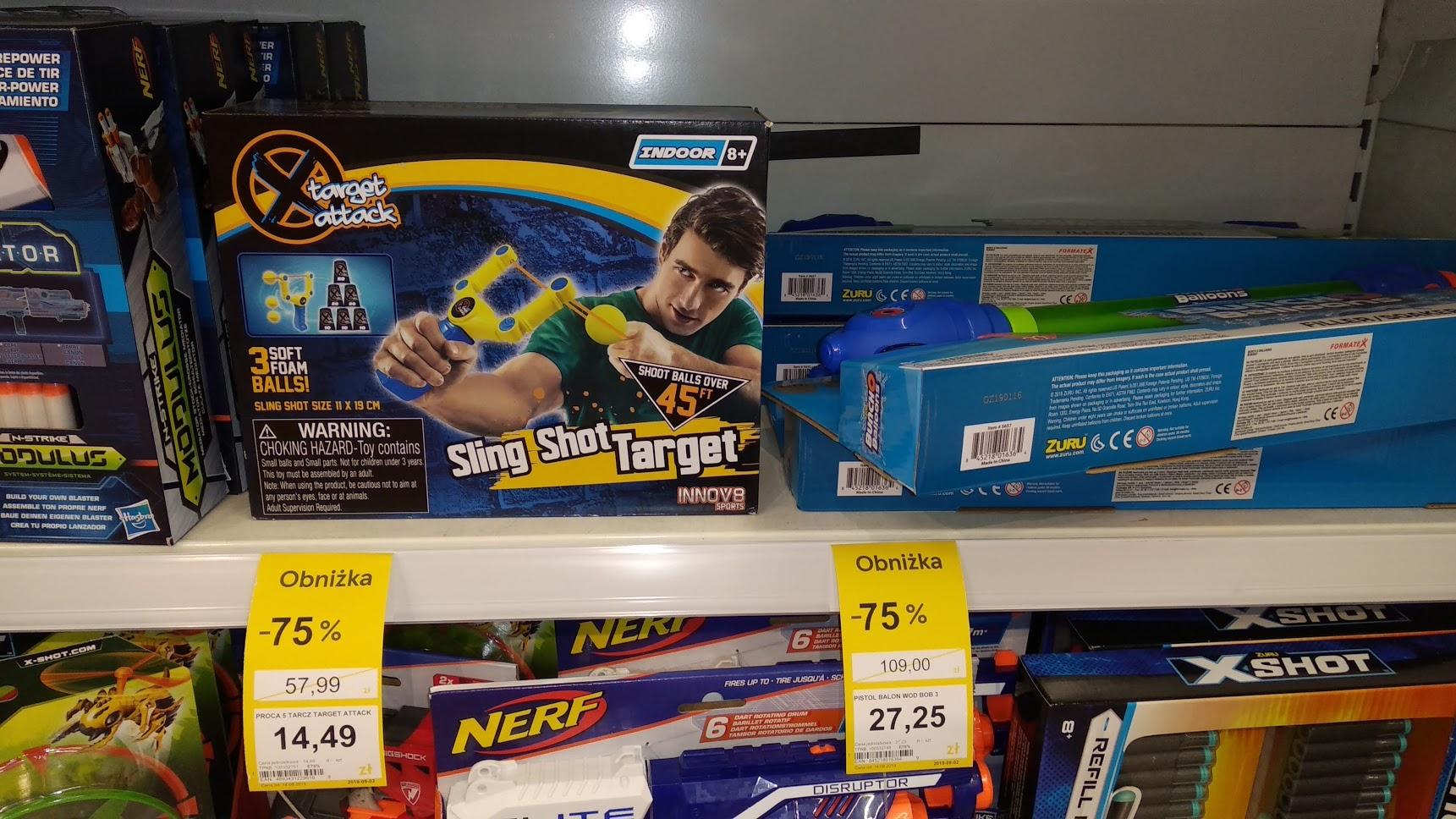 Sling Shot Target - gra zręcznościowa w Tesco
