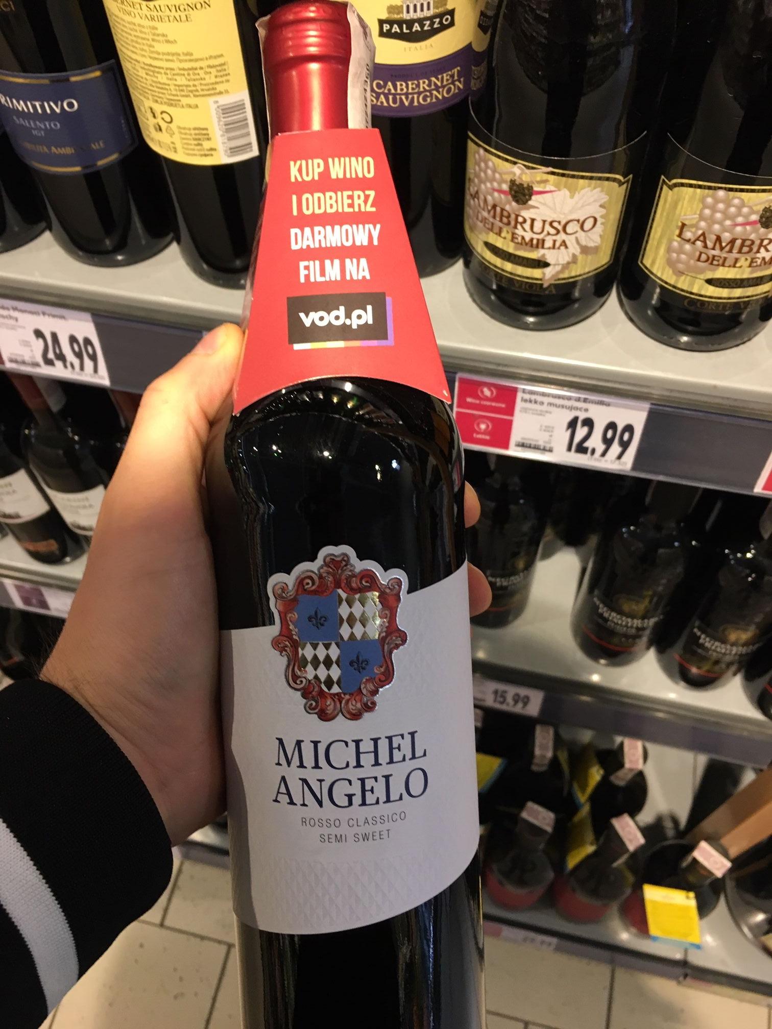 Kod na film VOD za butelkę Michel Angelo