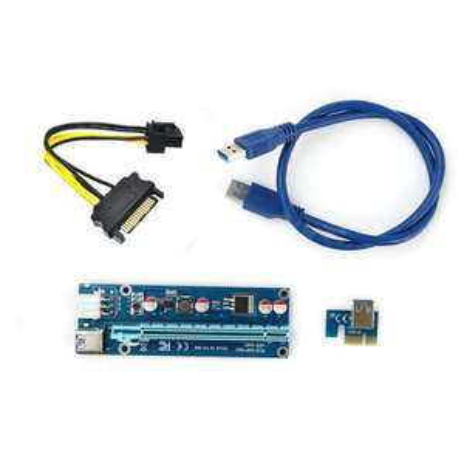 Riser PCI-Express 1x - 16x USB 3.0 6pin Sata Komputronik