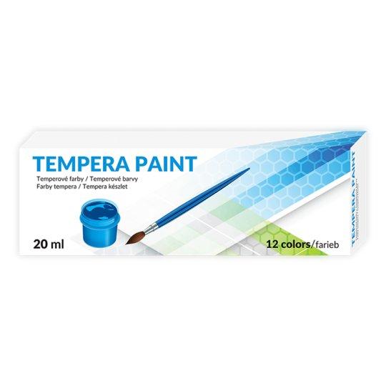 Farby tempera paint 12 kolorów Tesco