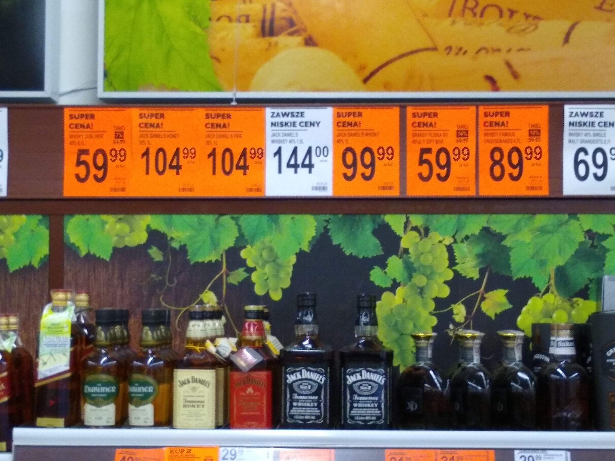 BIEDRONKA: np. Jack Daniels 1L Honey