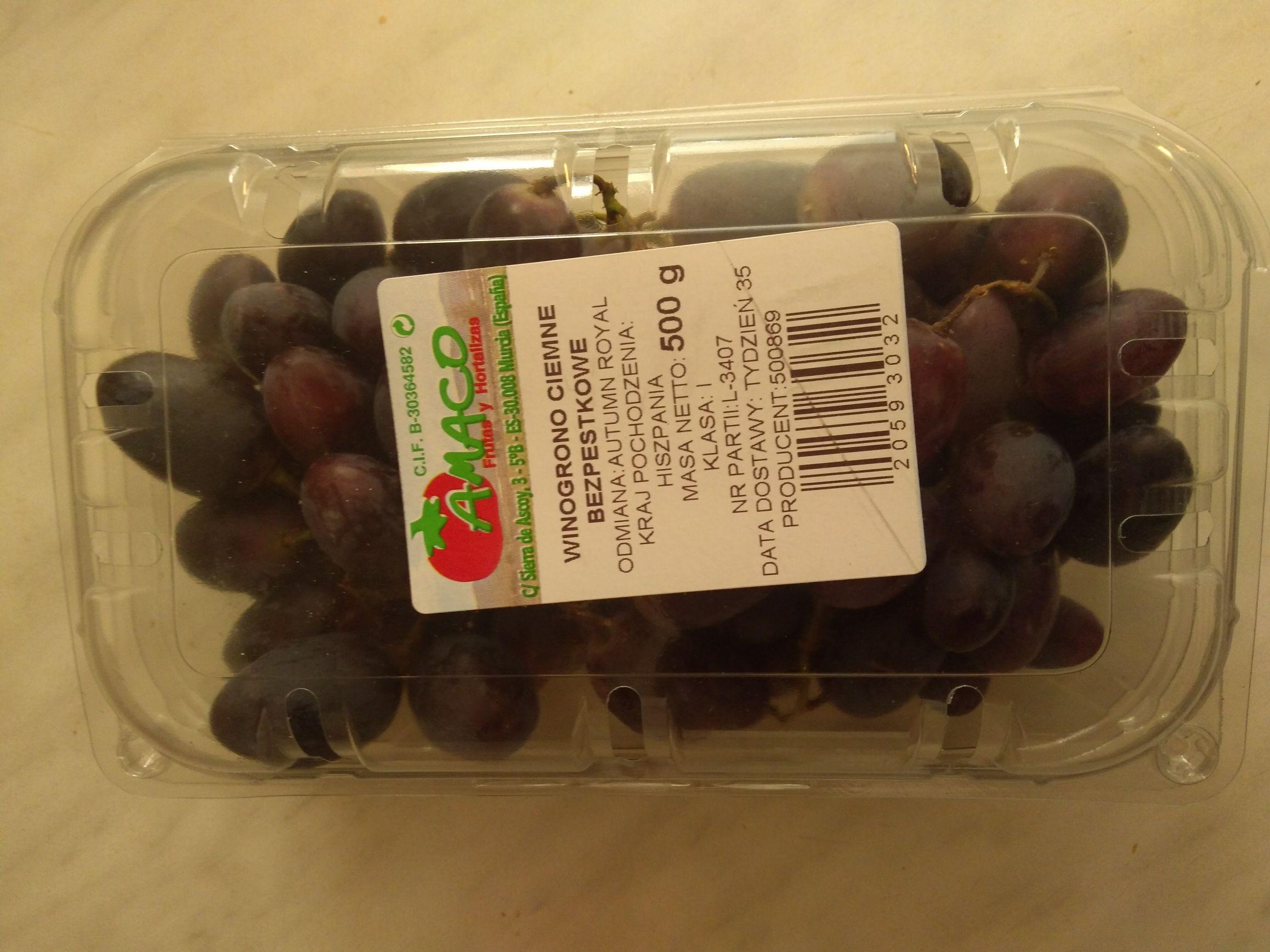 Winogrono ciemne bezpestkowe w Biedronce