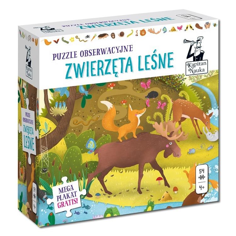Puzzle obserwacyjne - Zwierzęta leśne za 11,78zł @ Smyk