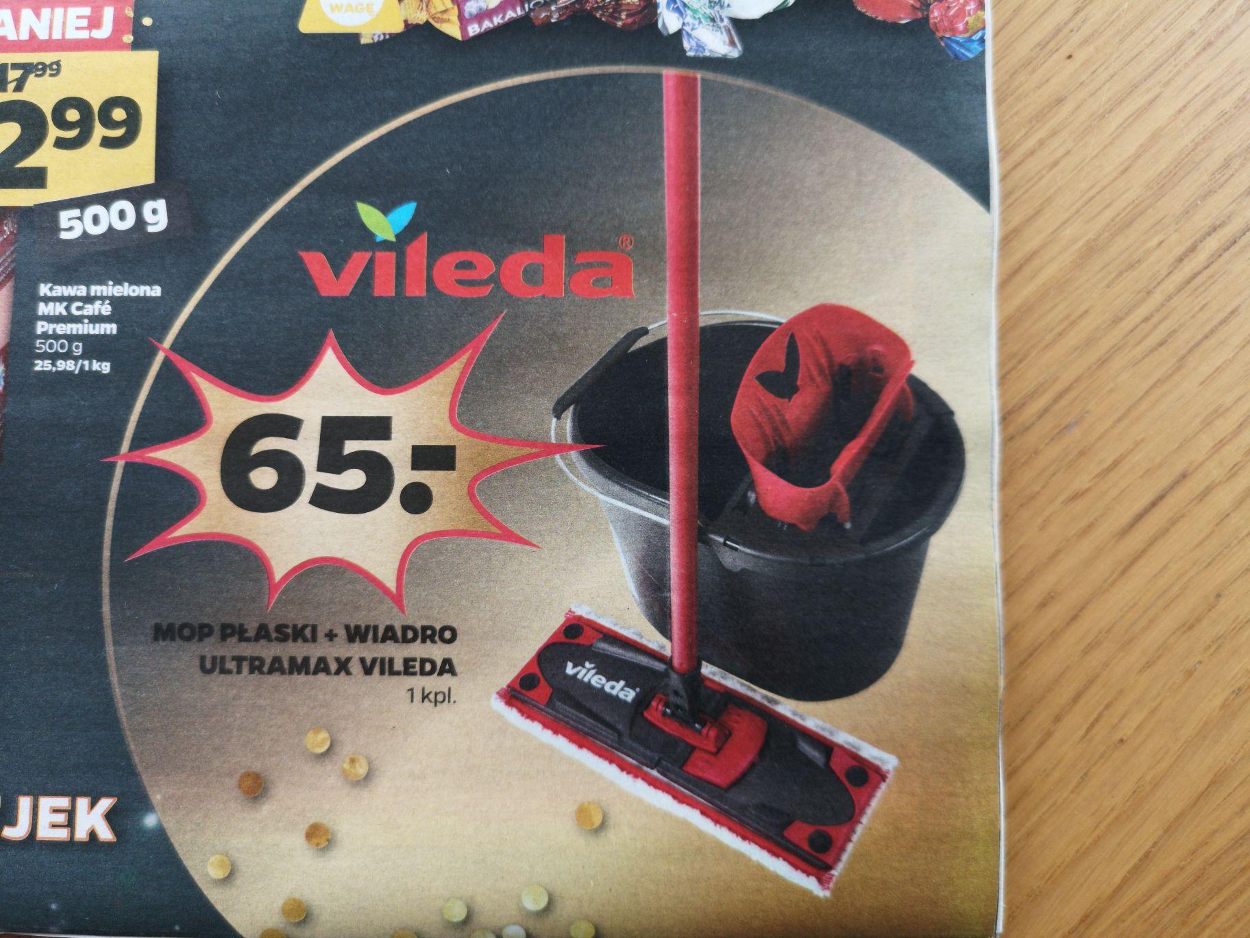 Vileda Ultramax mop płaski + wiadro NETTO