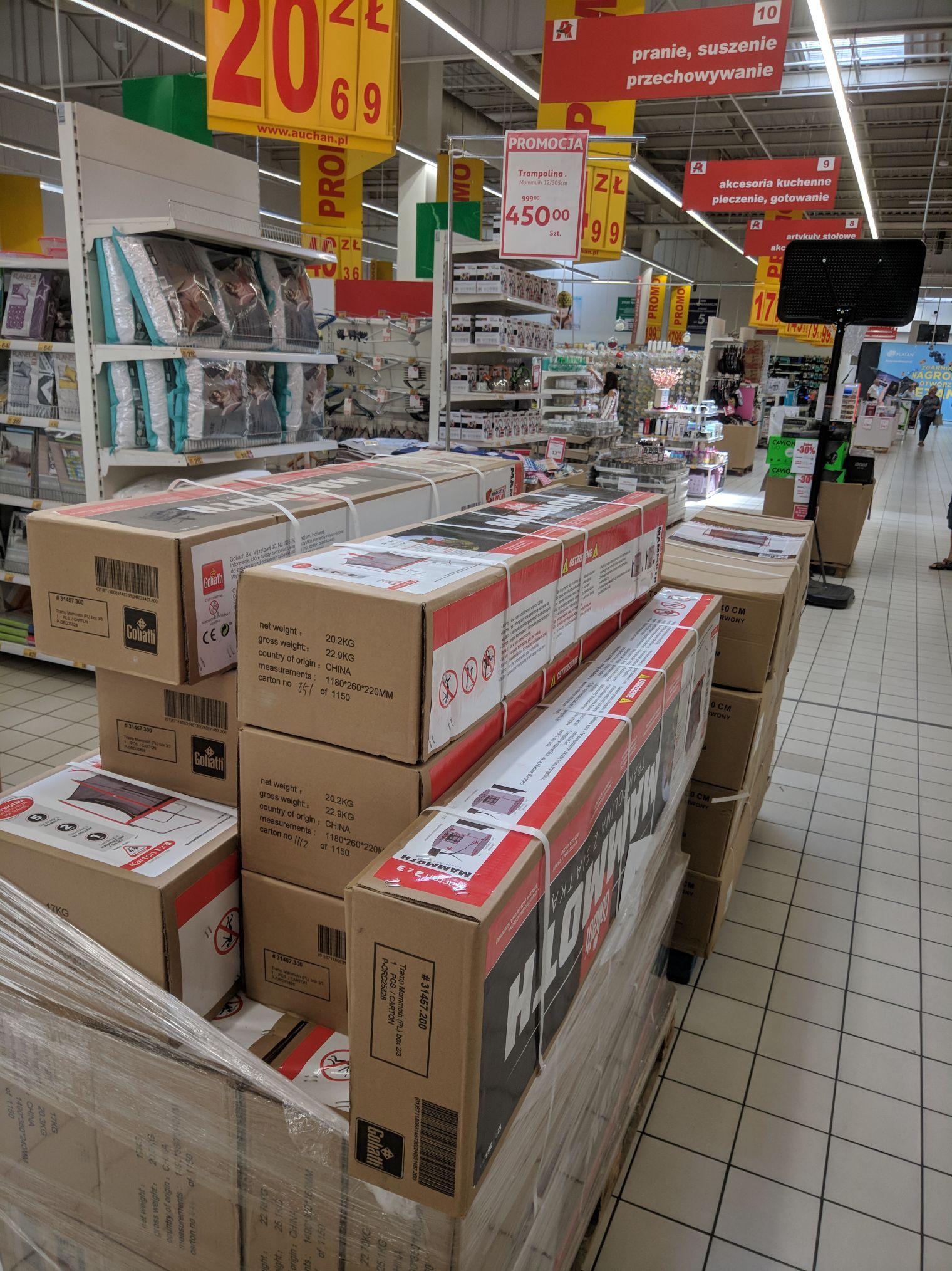 Trampolina Mammoth Goliath 365cm , Auchan Zabrze Platan