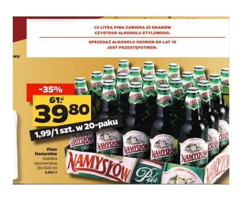 Piwo Namysłów 20 sztuk, 1.99 zł butelka. Netto