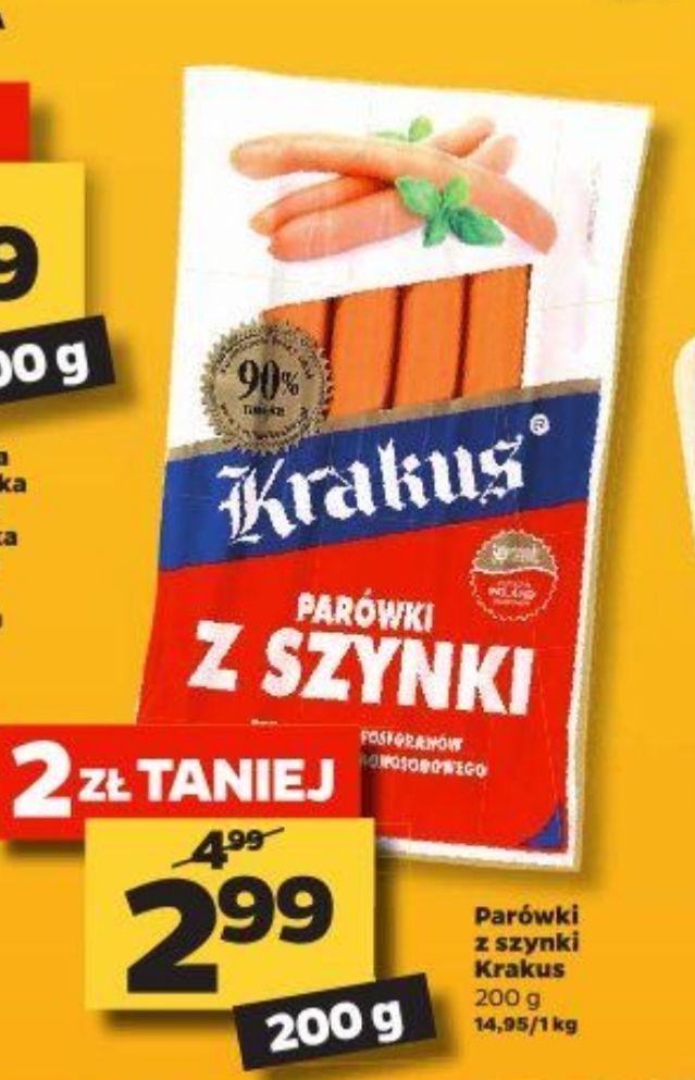 Parówki z szynki Krakus 2,99 zł/Mix sałat Fit&Easy 2,99 - Netto