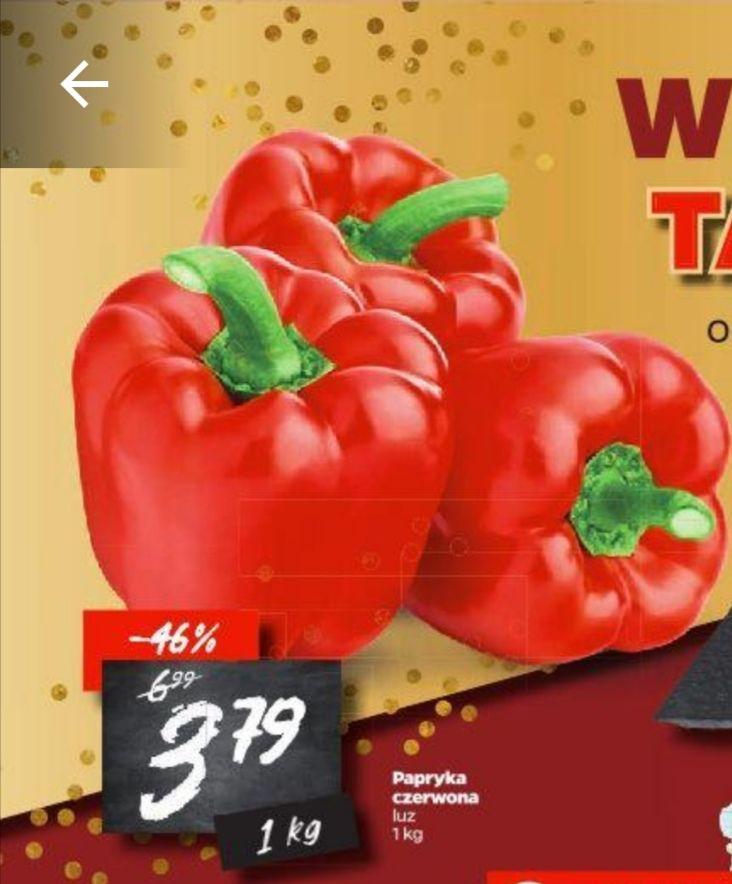 Papryka czerwona 3,79 zł/kg - Netto
