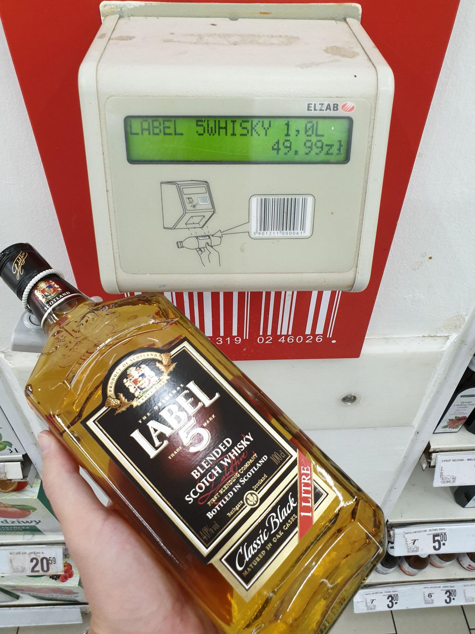 Whiskey Label 5 1L ( Auchan Warszawa)