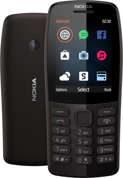 Telefon komórkowy NOKIA 210 DUAL SIM 2G BT, do 20 dni czuwania