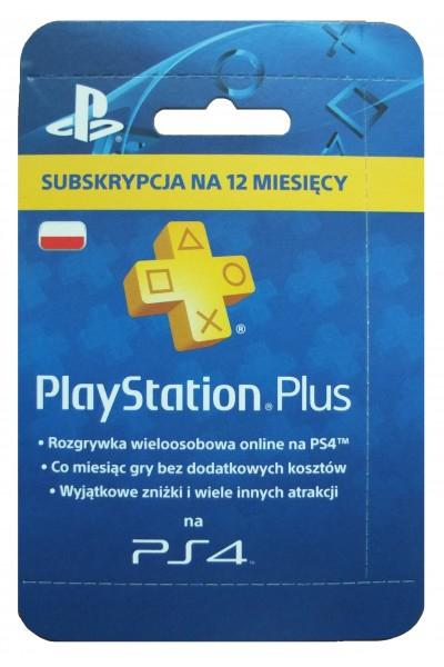 Abonament Playstation Plus na 12 miesięcy