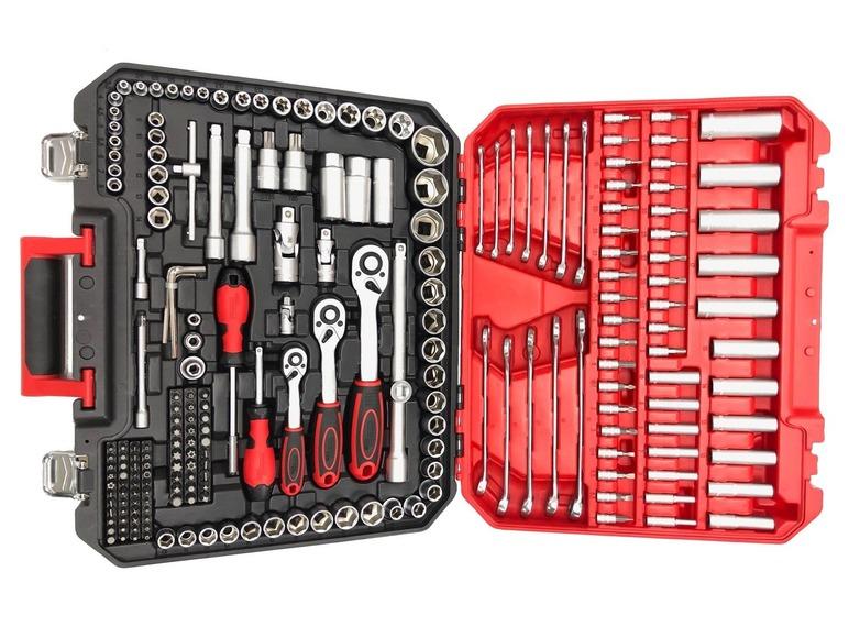 lidl-sklep: Zestaw kluczy nasadowych w walizce 216 części (POWERFIX)