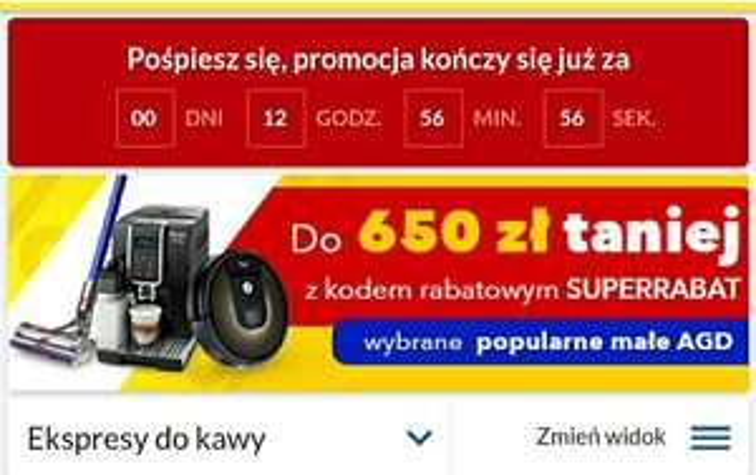 Popularne małe AGD do 650 zł taniej z kodem