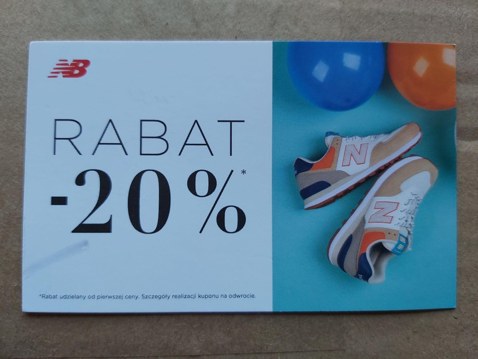 Kod rabatowy -20% na zakup produktów New Balance.