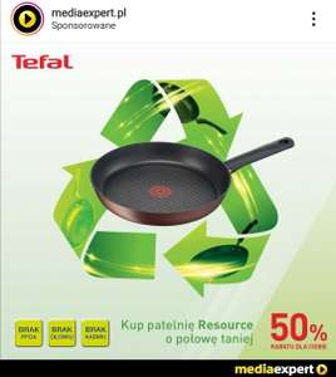 Patelnie TEFAL Resource -50% Media Expert