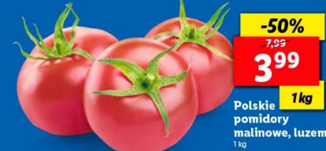 Polskie pomidory malinowe w Lidlu
