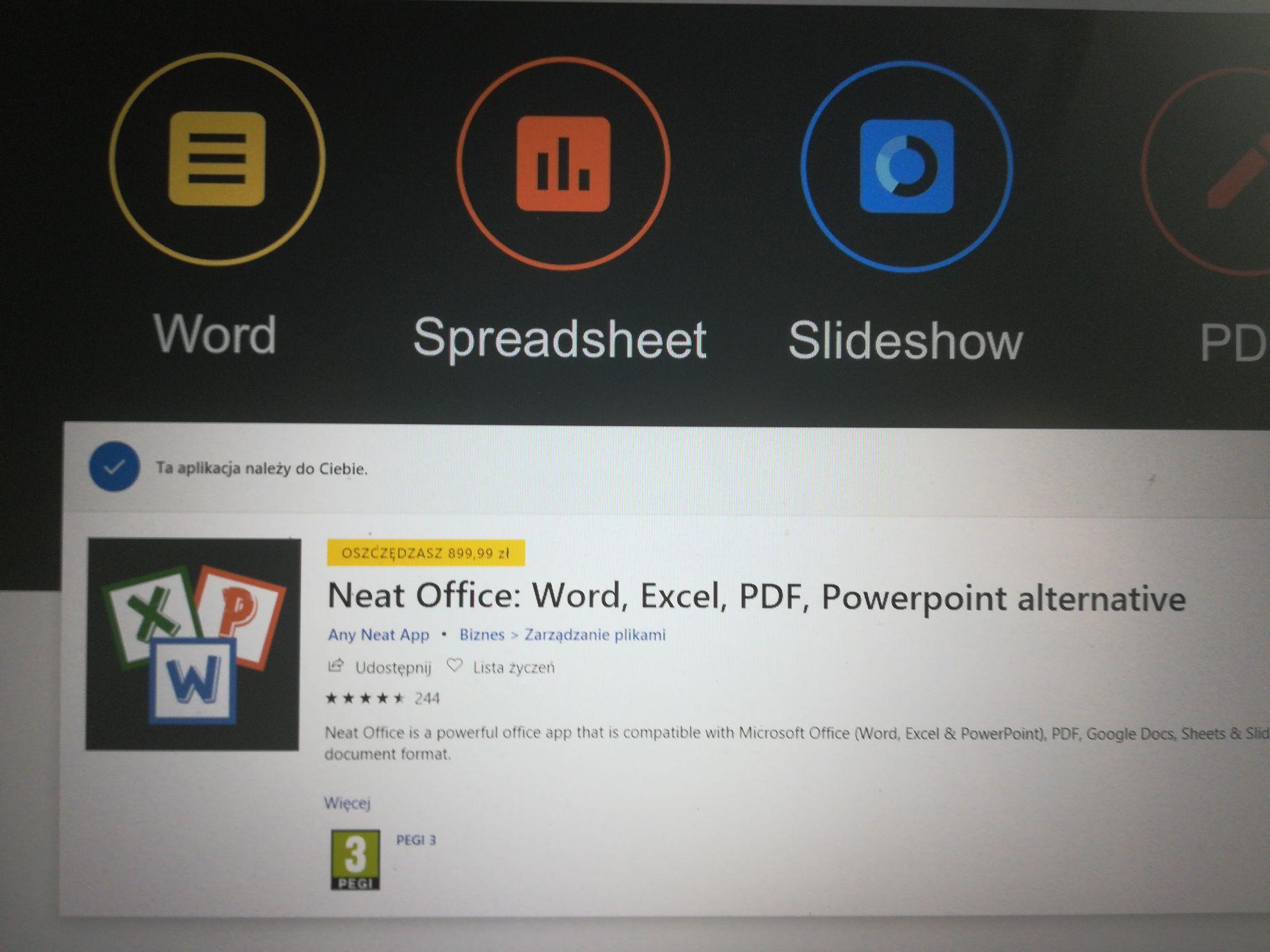 Darmowy neat office w aplikacji microsoft store