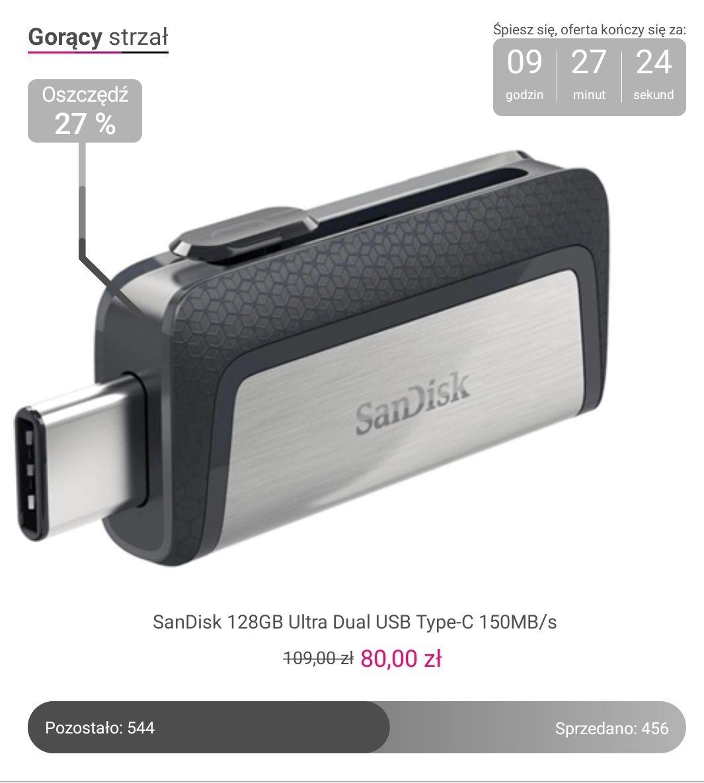 Pendrive Sandisk 128GB Ultra Dual USB-C