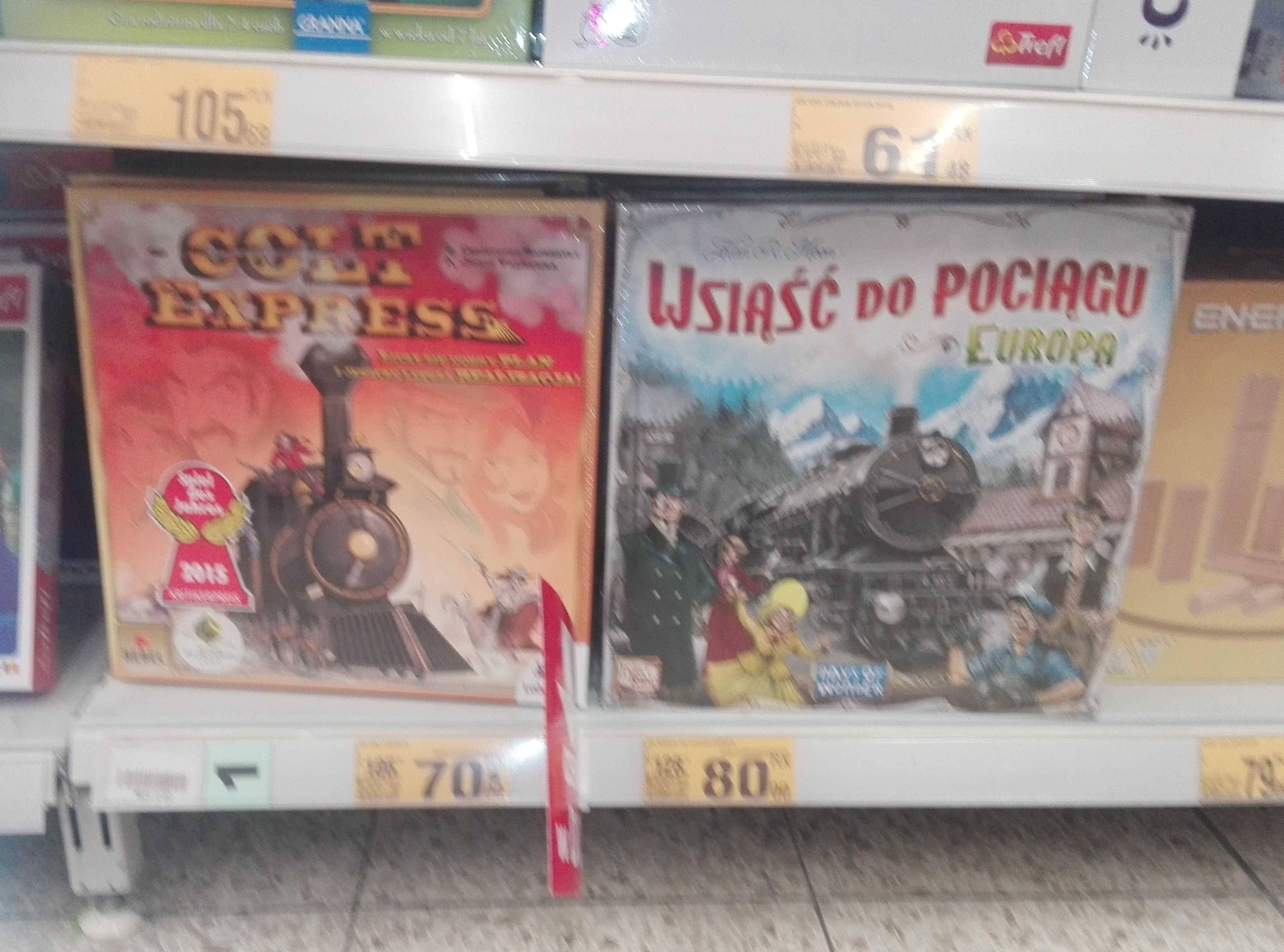Gra planszowa Wsiąść do pociągu - Auchan Lubin