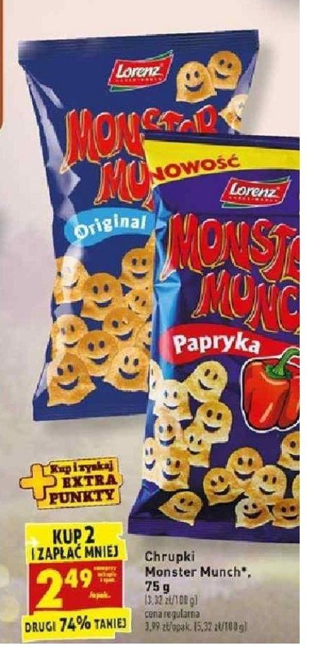 Chrupki Monster Munch. Kup 2 i zapłać mniej. Biedronka