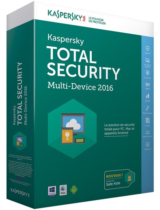Total Security 2016 (5 urządzeń, 1 rok) za ok. 11zł @ Kaspersky Lab UK