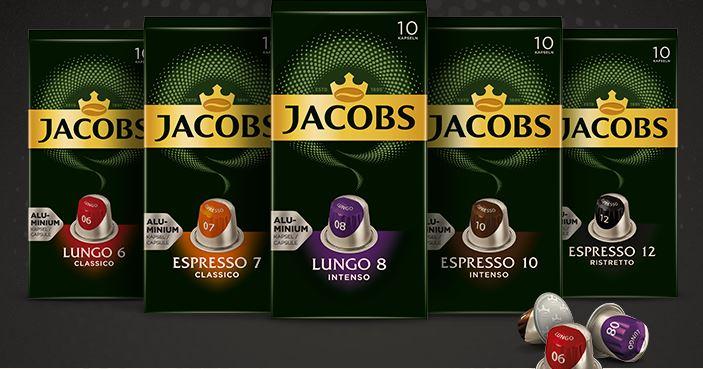 Kawa Jacobs w kapsułkach Espresso i Lungo (5 smaków), cena za 10 kapsułek, odbiór w sklepie 0 zł