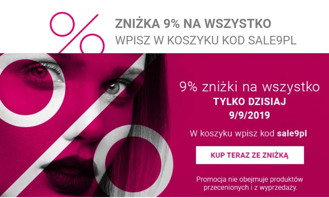 Kod rabatowy -9% na notino.pl