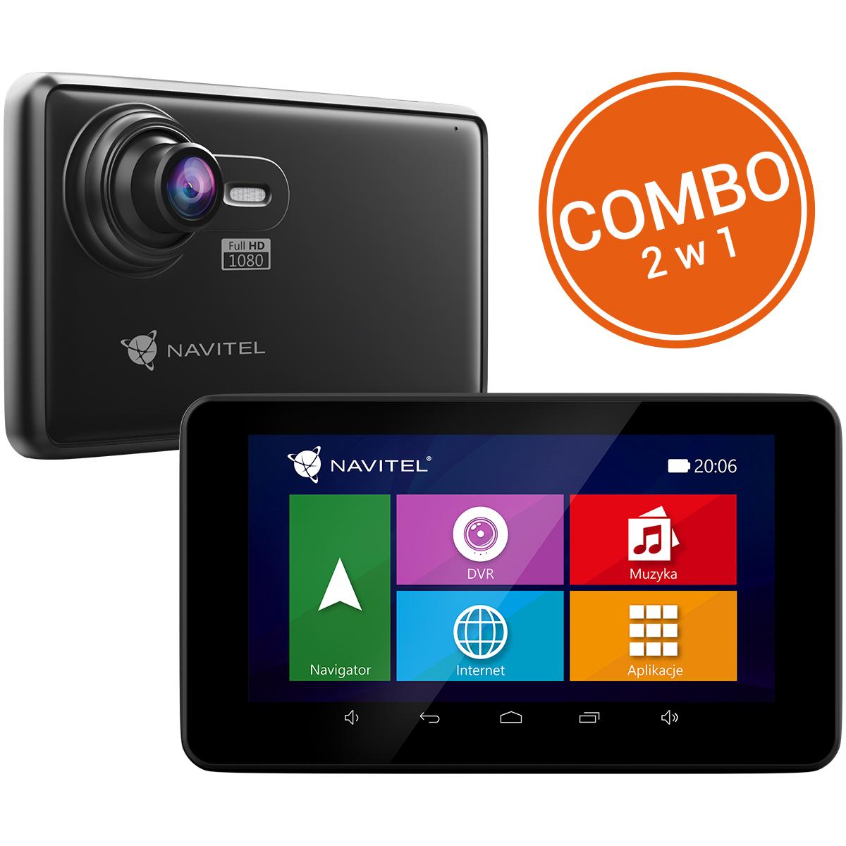 NAVITEL RE900 rejestrator jazdy z nawigacją GPS 47 krajów (FHD, BT), odbiór Carrefour 0 zł