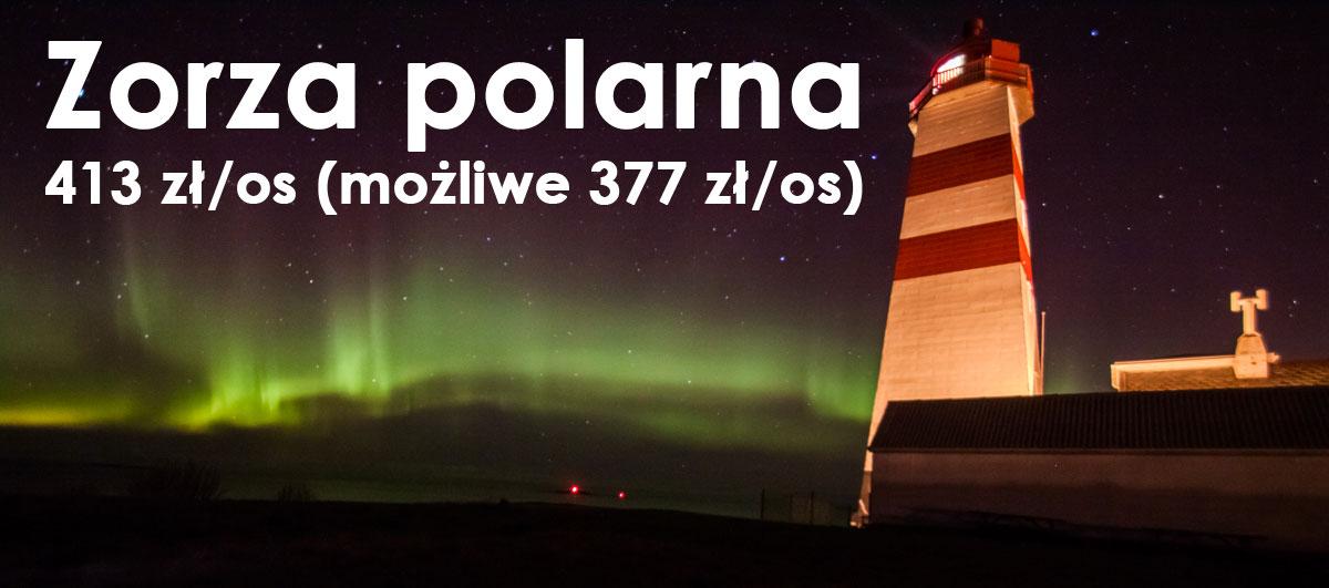 Polowanie na zorzę polarną. Lot/auto/noclegi - 413 zł/os (możliwe 377 zł!)
