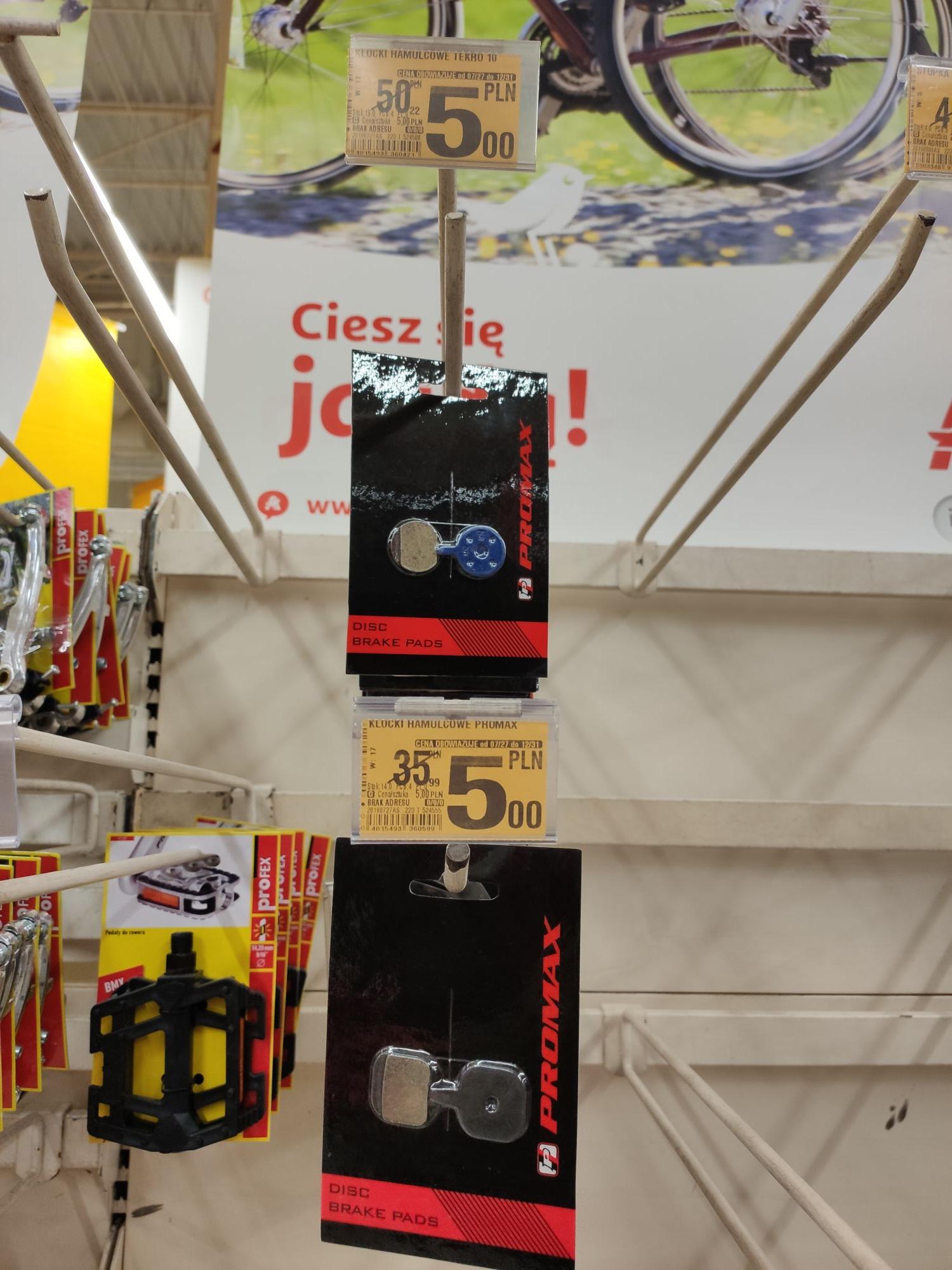 Klocki hamulcowe Tekro 10 i Promax Auchan