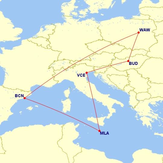 #Multicity [Barcelona + Malta + Wenecja + Budapeszt] Loty z Warszawy