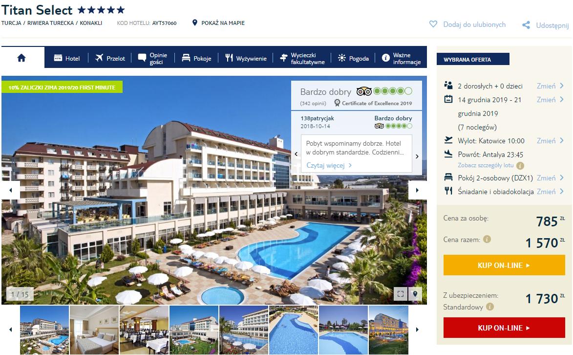 Bardzo tanie wczasy w Turcji! Pobyt w 5* hotelu z HB od 785 PLN lub 1038 all inclusive . Wyloty z 3 miast grudzień.