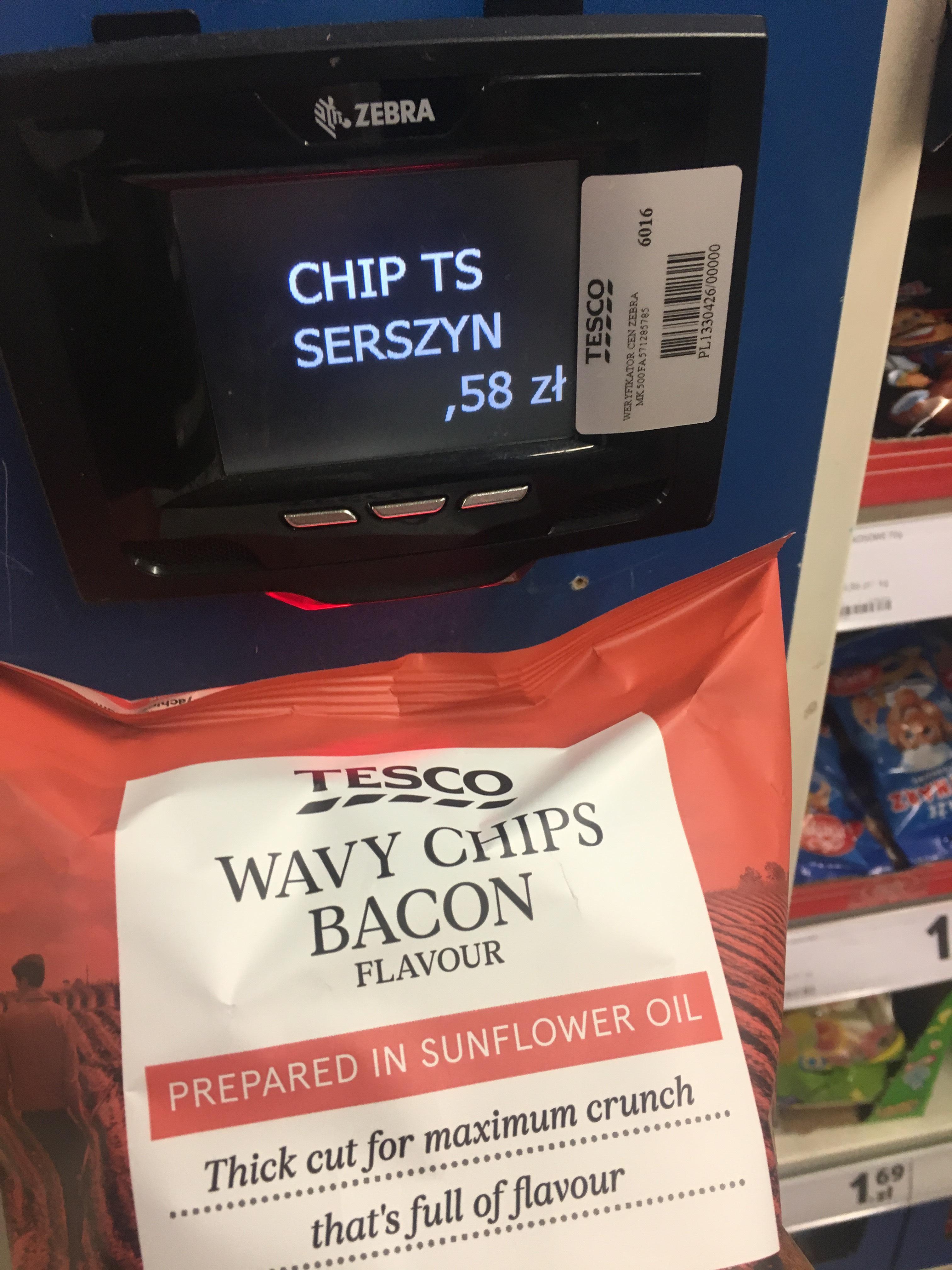 Tesco chipsy