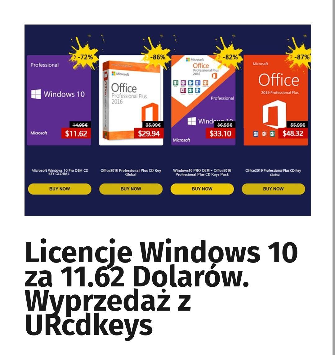 Windows 10 Pro OEM - wysyłka mailem za 11.62$