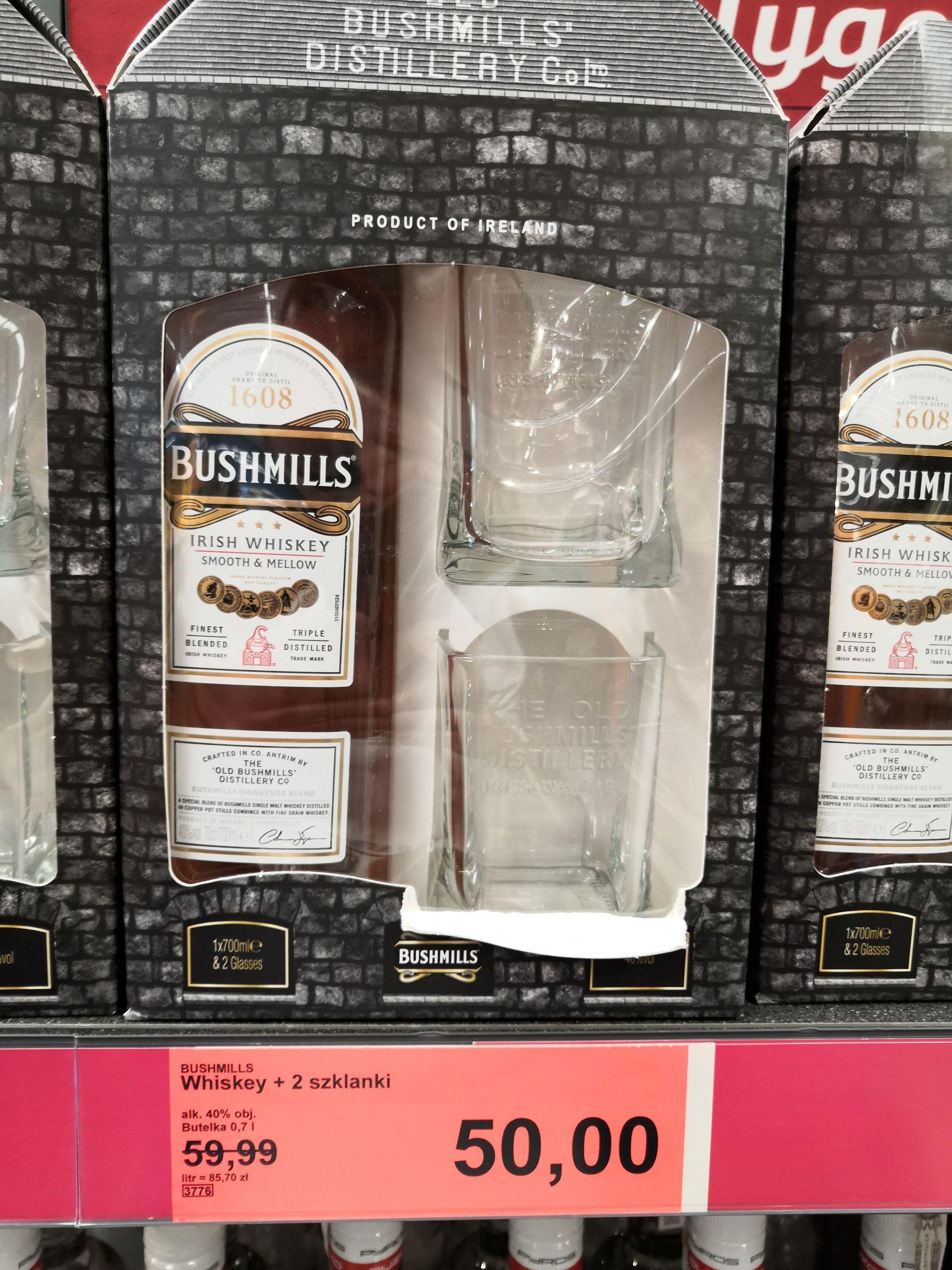 Whiskey Bushmills 0,7 Aldi Piaseczno + szklanki !