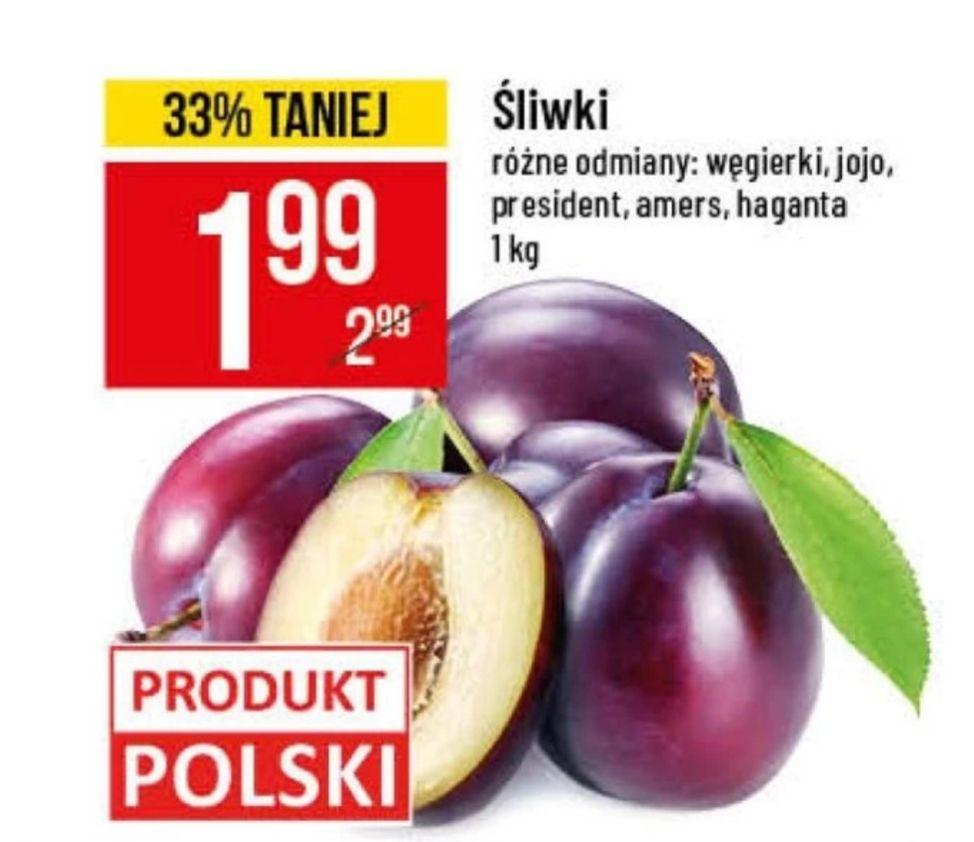 Śliwki różne odmiany: węgierki, jojo, president, amers, haganta  1.99/kg PoloMarket od 11.09 do 24.09