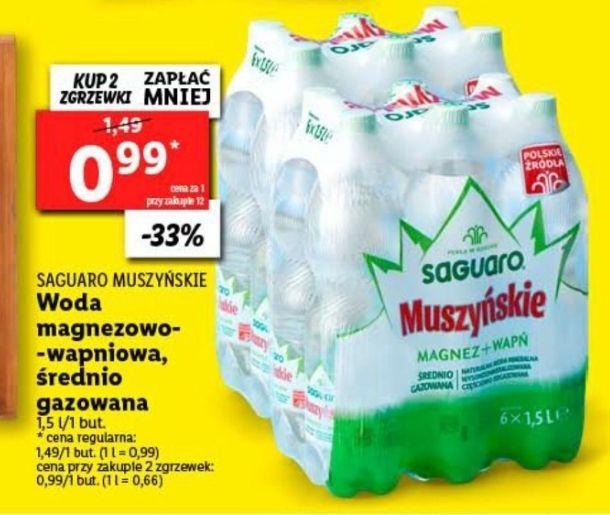 Woda Saguaro Muszyńskie lidl