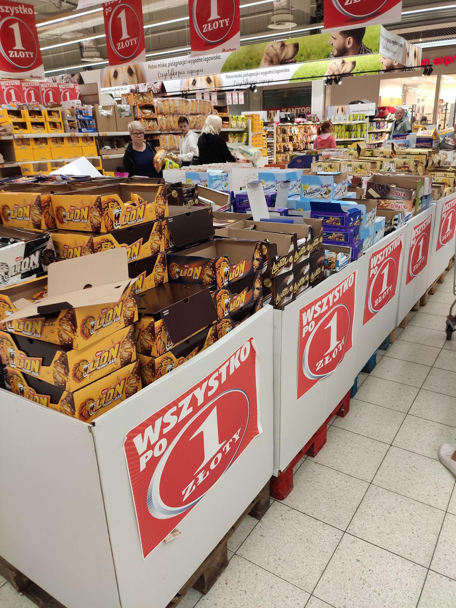 Wszystko po 1zł *Auchan Białystok*