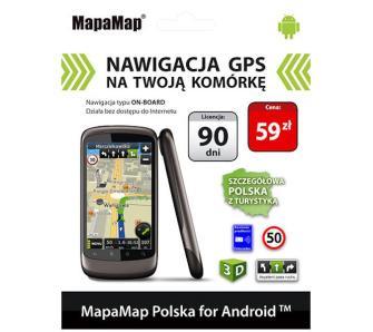 MapaMap Polska na Androida (licencja 90 dni)