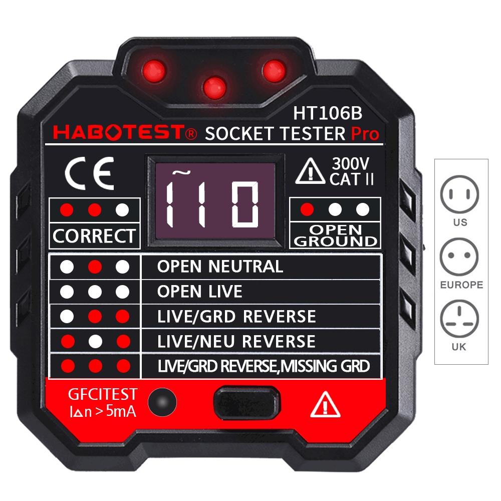 Tester gniazd elektrycznych Daniu HT106B