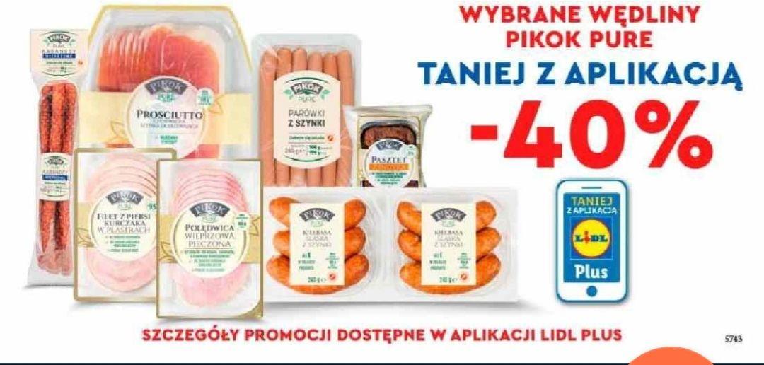 Wybrane wędliny Pikok Pure - 40% - Lidl