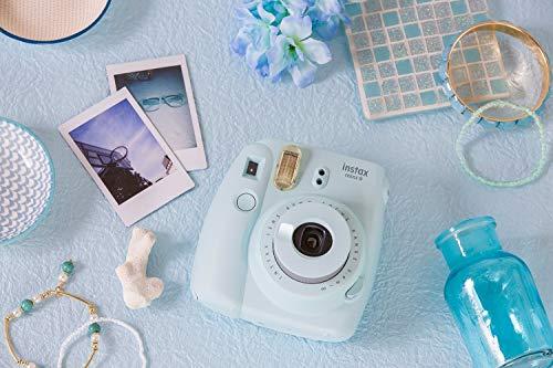 Fujifilm Instax Mini 9 lodowy niebieski z zestawem filmów monochromatyczny - Amazon.de