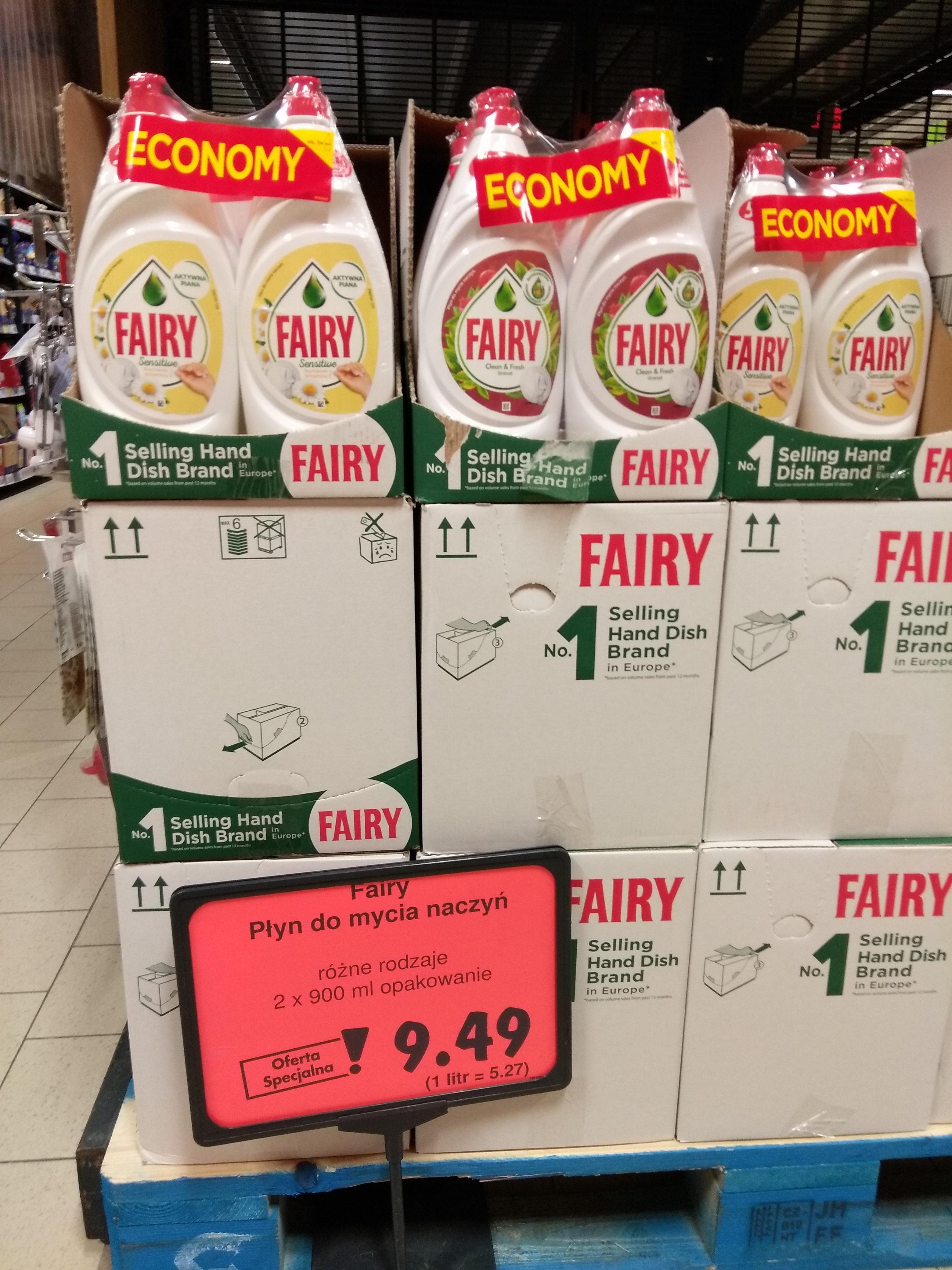 Fairy płyn do mycia naczyń 2x900ml Kaufland Łódź
