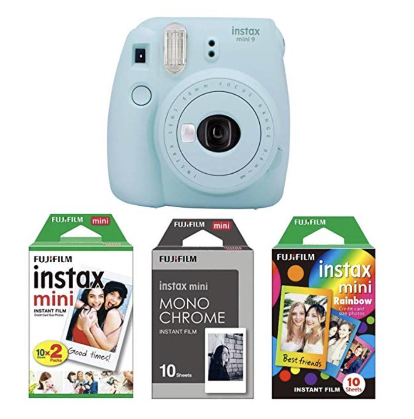 aparat Fujifilm Instax Mini 9 z zestawem filmów b&w