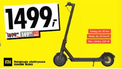 Hulajnoga Xiaomi Mi365 za 1499 zł na otwarcie sklepu (Warszawa, Górczewska) @ Media Expert