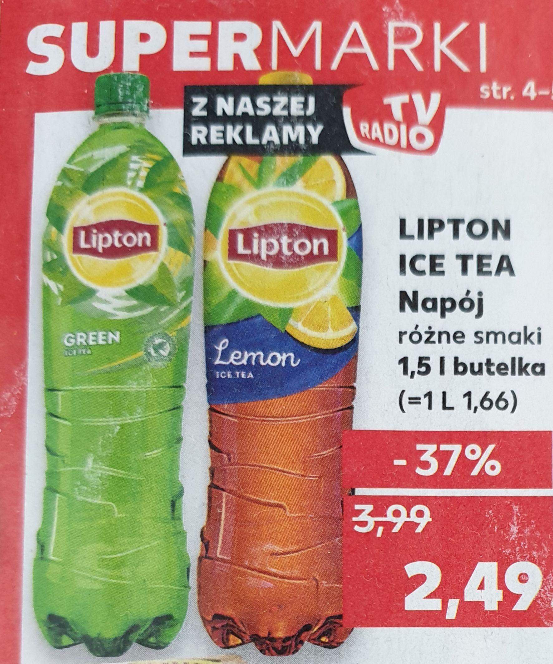 Lipton Ice Tea różne smaki Kaufland oferta do 11.09