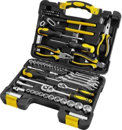 Zestaw narzędzi w walizce Fieldmann FDG 5003-65R, 65 elementów, także dwa inne zestawy tej marki (+ ew. zestaw bitów lub śrubokrętów)