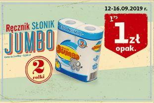 Ręcznik papierowy, kuchenny Słonik Jumbo 2 rolki, 50gr/rolka, Auchan