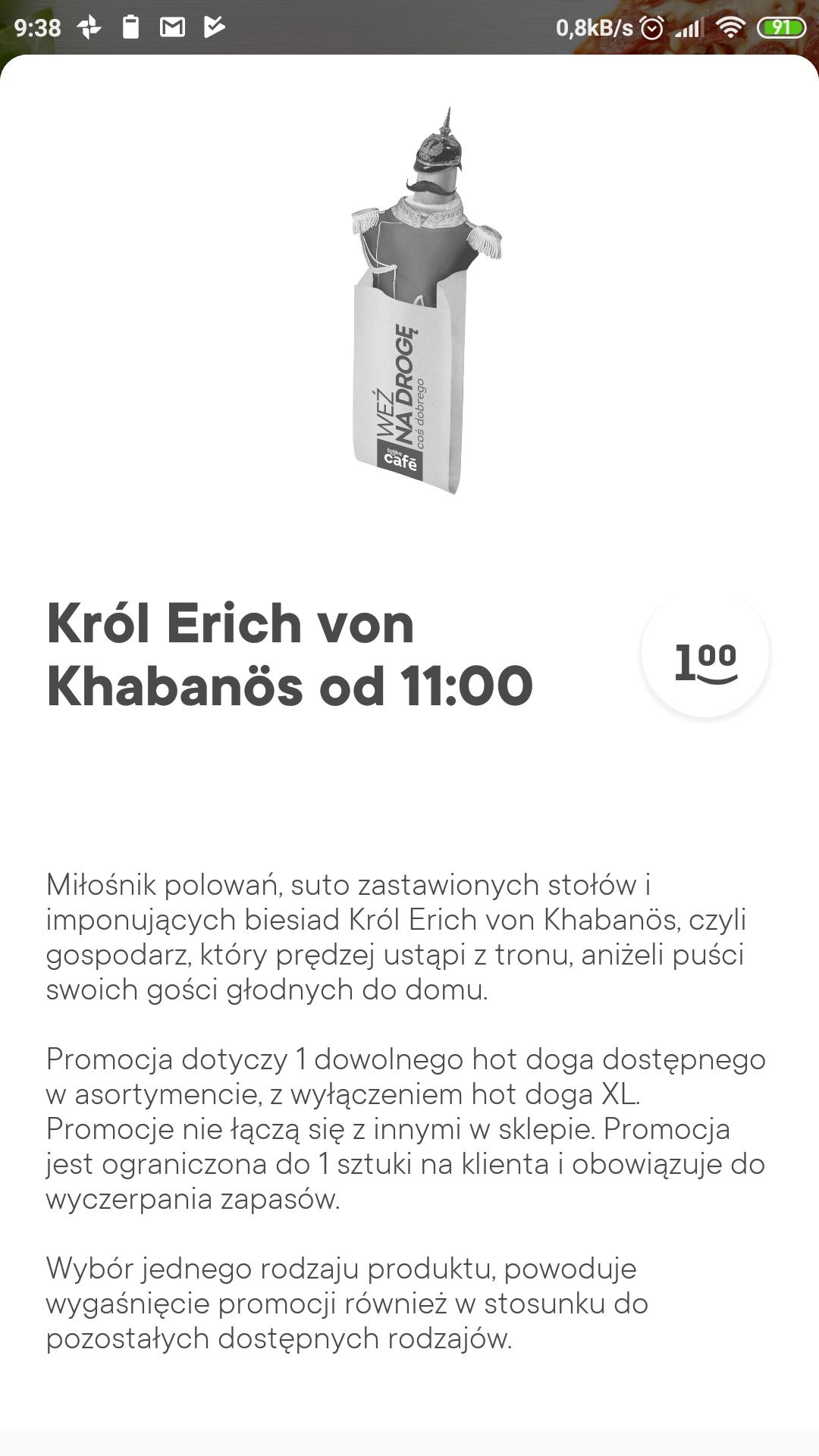 Hotdog w Żabka za 1 zł od 11:00