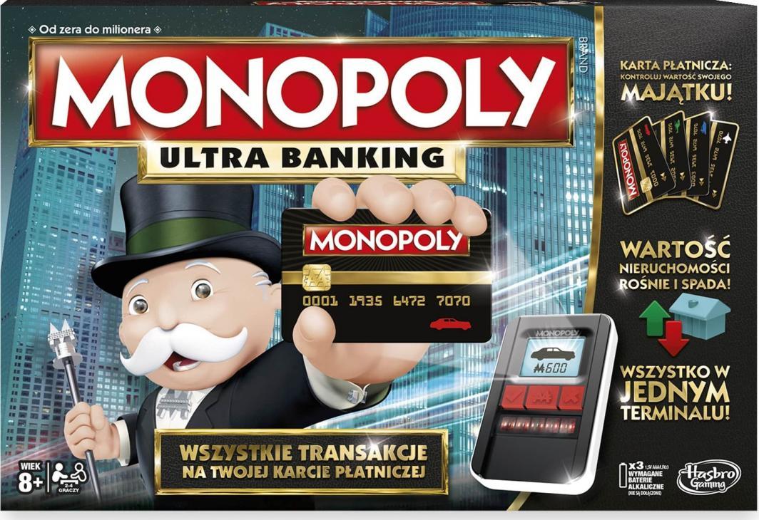 Gra Monopoly Ultra Banking PL, dostawa full opcja za 0zł (też MONOPOLY Cheaters edition za 54,99 zł)